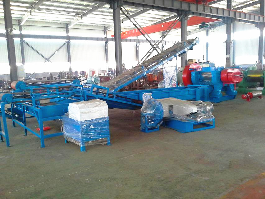Waste Tyre Cutting Machine,Rubber Recycling Machine